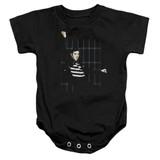 Elvis Presley Blue Bars Baby Onesie T-Shirt Black