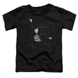 Elvis Presley Blue Bars Toddler T-Shirt Black