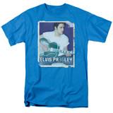 Elvis Presley 35 Guitar Adult 18/1 T-Shirt Turquoise