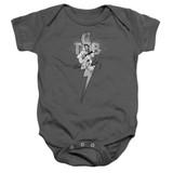 Elvis Presley TCB Ornate Baby Onesie T-Shirt Charcoal