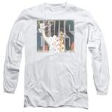 Elvis Presley Aloha Knockout Classic Adult Long Sleeve T-Shirt White