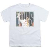 Elvis Presley Aloha Knockout Classic Youth T-Shirt White