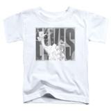 Elvis Presley Aloha Gray Classic Toddler T-Shirt White