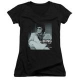 Elvis Presley Good To Be Classic Junior Women's V-Neck T-Shirt Black