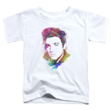 Elvis Presley Watercolor King Classic Toddler T-Shirt White