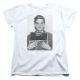 Elvis Presley Army Mug Shot Classic Women's T-Shirt White