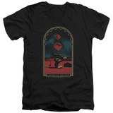 Empire of the Sun Balance Adult V-Neck T-Shirt Black