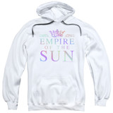 Empire of the Sun Rainbow Logo Adult Pullover Hoodie Sweatshirt White