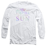 Empire of the Sun Rainbow Logo Long Sleeve Adult T-Shirt White