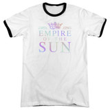 Empire of the Sun Rainbow Logo Adult Ringer T-Shirt White/Black