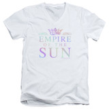 Empire of the Sun Rainbow Logo Adult V-Neck T-Shirt White