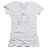 Empire of the Sun Rainbow Logo Junior Women's V-Neck T-Shirt White