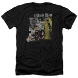 Frank Zappa Uncle Meat Adult Heather T-Shirt Black