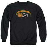 Frank Zappa Barking Pumpkin Adult Crewneck Sweatshirt Black