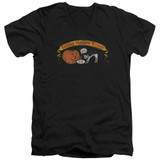 Frank Zappa Barking Pumpkin Adult V-Neck T-Shirt Black