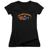 Frank Zappa Barking Pumpkin Junior Women's V-Neck T-Shirt Black