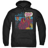 Frank Zappa Freak Out Adult Pullover Hoodie Sweatshirt Black