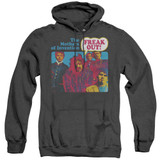 Frank Zappa Freak Out Adult Heather Pullover Hoodie Sweatshirt Black