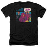 Frank Zappa Freak Out Adult Heather T-Shirt Black