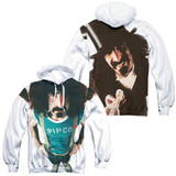 Frank Zappa Lumpy Gravy (Front/Back Print) Adult Sublimated Pullover Hoodie Sweatshirt White