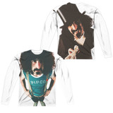 Frank Zappa Lumpy Gravy (Front/Back Print) Adult Sublimated Long Sleeve T-Shirt White