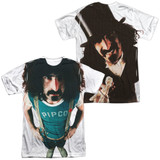 Frank Zappa Lumpy Gravy (Front/Back Print) Adult Sublimated Crew T-Shirt White
