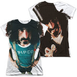 Frank Zappa Lumpy Gravy (Front/Back Print) Junior Women's Sublimated Crew T-Shirt White