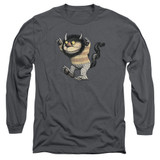 Where The Wild Things Are Carol Long Sleeve Adult 18/1 T-Shirt Charcoal