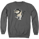 Where The Wild Things Are Carol Adult Crewneck Sweatshirt Charcoal