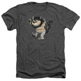 Where The Wild Things Are Carol Adult Heather T-Shirt Charcoal