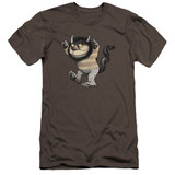 Where The Wild Things Are Carol Premium S/S Adult 30/1 T-Shirt Charcoal