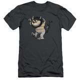 Where The Wild Things Are Carol S/S Adult 30/1 T-Shirt Charcoal