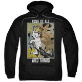 Where The Wild Things Are King Of All Wild Things Adult Pullover Hoodie Sweatshirt Black