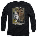 Where The Wild Things Are King Of All Wild Things Long Sleeve Adult 18/1 T-Shirt Black