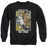 Where The Wild Things Are King Of All Wild Things Adult Crewneck Sweatshirt Black