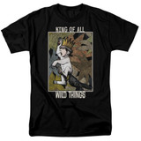 Where The Wild Things Are King Of All Wild Things S/S Adult 18/1 T-Shirt Black