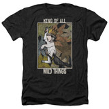 Where The Wild Things Are King Of All Wild Things Adult T-Shirt Heather Black