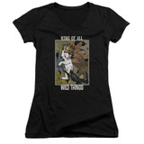 Where The Wild Things Are King Of All Wild Things Junior Women's T-Shirt V Neck Black