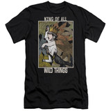 Where The Wild Things Are King Of All Wild Things Premium S/S Adult 30/1 T-Shirt Black