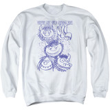 Where The Wild Things Are Wild Sketch Adult Crewneck Sweatshirt White