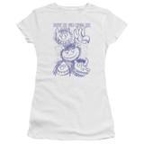 Where The Wild Things Are Wild Sketch S/S Junior Women's T-Shirt Sheer White