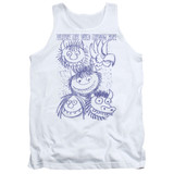 Where The Wild Things Are Wild Sketch Adult Tank Top White