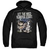 Where The Wild Things Are Wild Rumpus Adult Pullover Hoodie Sweatshirt Black