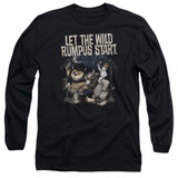 Where The Wild Things Are Wild Rumpus Long Sleeve Adult 18/1 T-Shirt Black