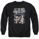 Where The Wild Things Are Wild Rumpus Adult Crewneck Sweatshirt Black