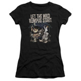 Where The Wild Things Are Wild Rumpus Premium S/S Junior Women's T-Shirt Sheer Black