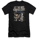Where The Wild Things Are Wild Rumpus Premium S/S Adult 30/1 T-Shirt Black