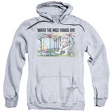 Where The Wild Things Are Cover Art Adult Pullover Hoodie Sweatshirt Athletic Heather