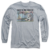 Where The Wild Things Are Cover Art Long Sleeve Adult 18/1 T-Shirt Athletic Heather