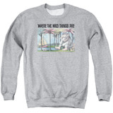 Where The Wild Things Are Cover Art Adult Crewneck Sweatshirt Athletic Heather